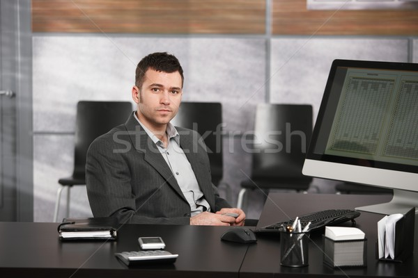 Businessman at desk Stock photo © nyul