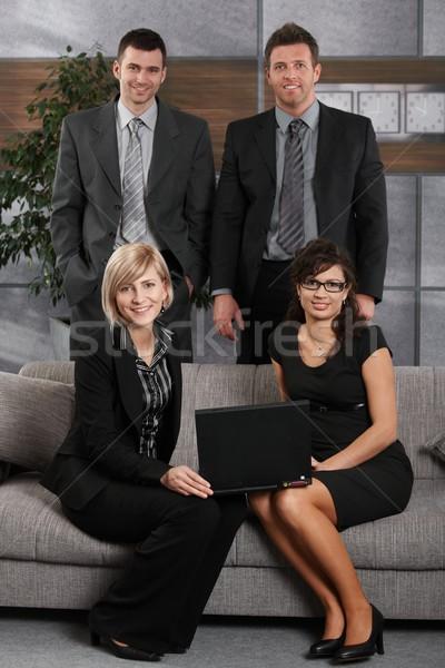 Retrato equipo de negocios oficina feliz gente de la oficina sesión Foto stock © nyul