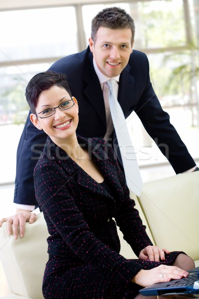 Business people smiling Stock photo © nyul