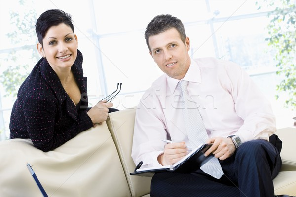 Businesspeople smiling Stock photo © nyul