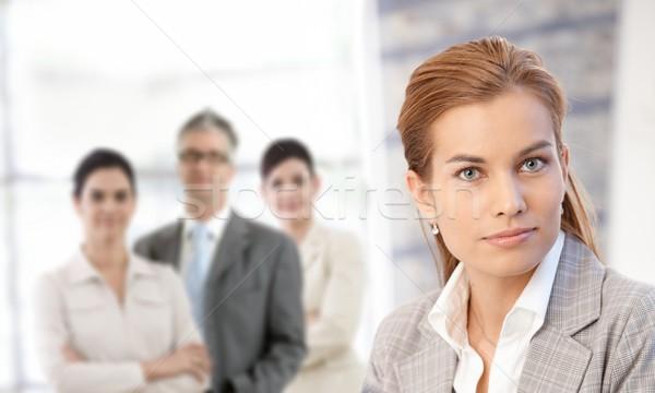 Foto stock: Empresária · retrato · colegas · negócio · escritório