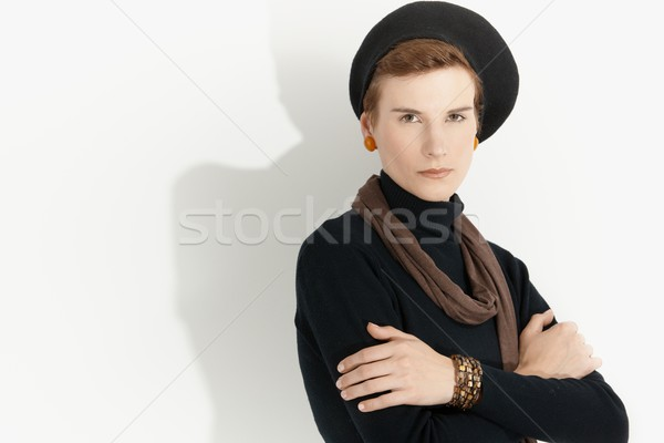 Young woman in trendy clothes Stock photo © nyul