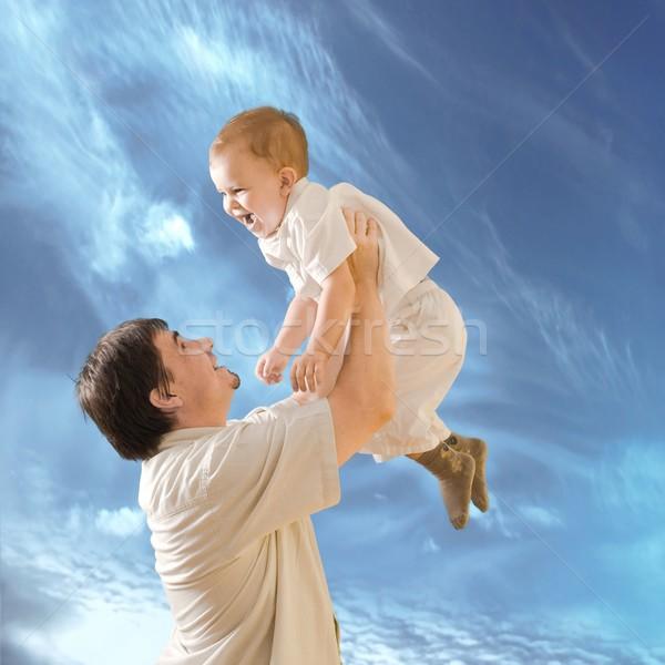 Paternidad padre año edad bebé Foto stock © nyul