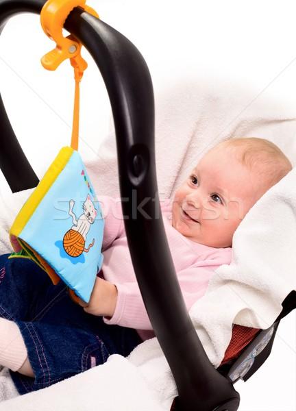 Baby spelen verhaal boek vergadering kinderen Stockfoto © nyul