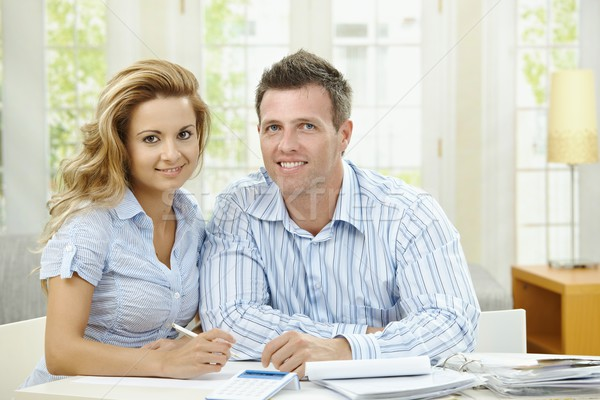Stock photo: Cuople planning at home