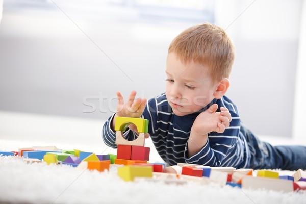 Stockfoto: Zoete · weinig · jongen · verloren · leggen · vloer