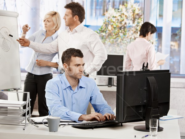 Office life - business people working Stock photo © nyul