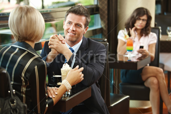 Business meeting in cafe Stock photo © nyul