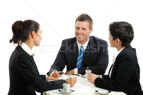 Businesspeople having coffee break Stock photo © nyul