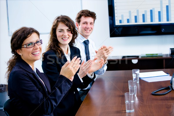 Businesspeople clapping on training Stock photo © nyul
