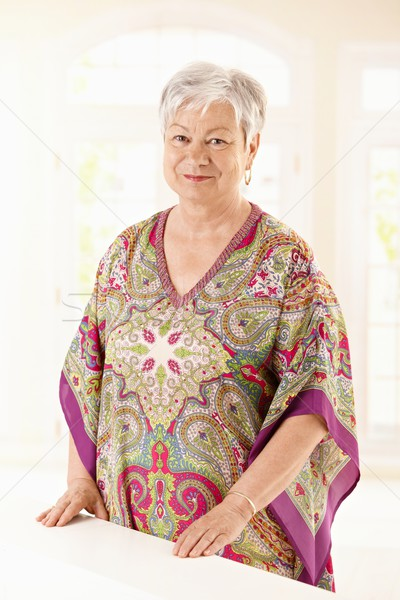 Portrait of elderly woman at home Stock photo © nyul