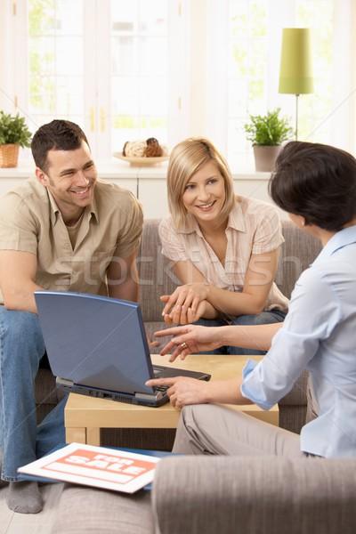 Photo stock: Agent · immobilier · rendez-vous · ensoleillée · salon · affaires
