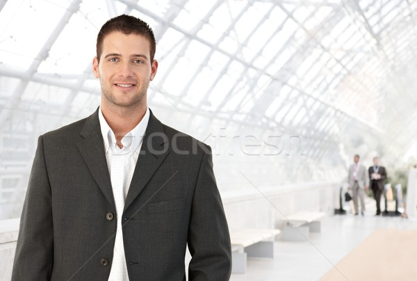 小さな ビジネスマン オフィス 立って 明るい ロビー ストックフォト © nyul