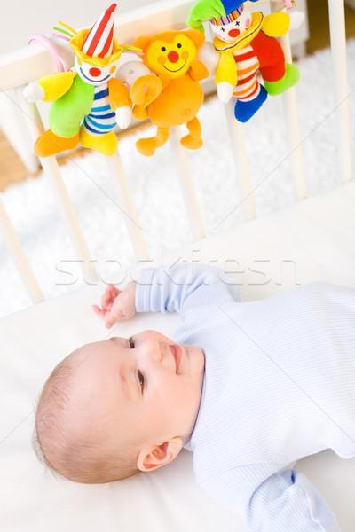 Happy baby on crib Stock photo © nyul