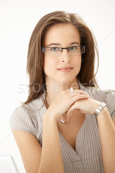 Young woman wearing glasses Stock photo © nyul