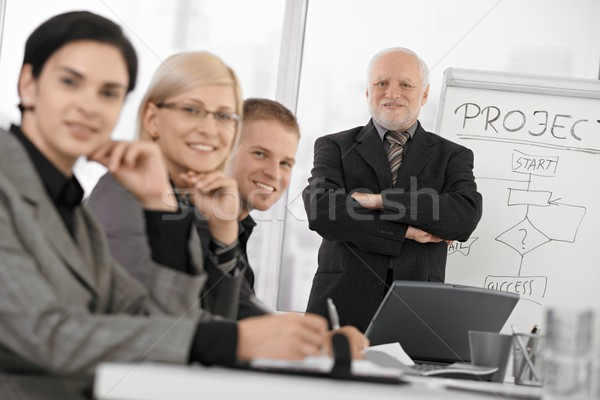 Confident businesspeople at training Stock photo © nyul