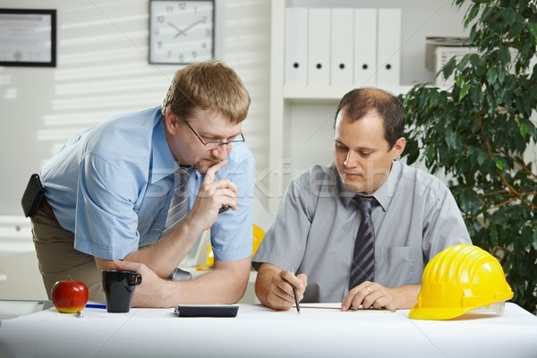 Architects talking at office Stock photo © nyul