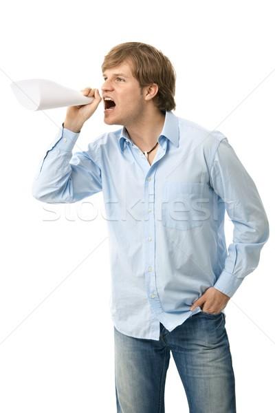 Angry man shouting Stock photo © nyul