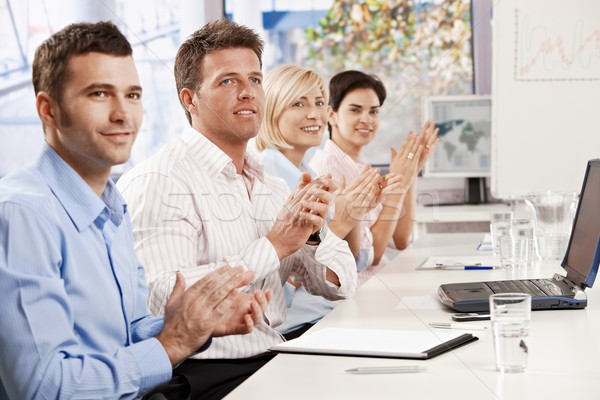 Business people clapping at meeting Stock photo © nyul