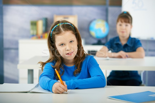 Children in elementary school classroom Stock photo © nyul