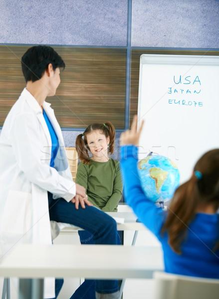 Stok fotoğraf: çocuklar · okul · temel · yaş · bakıyor