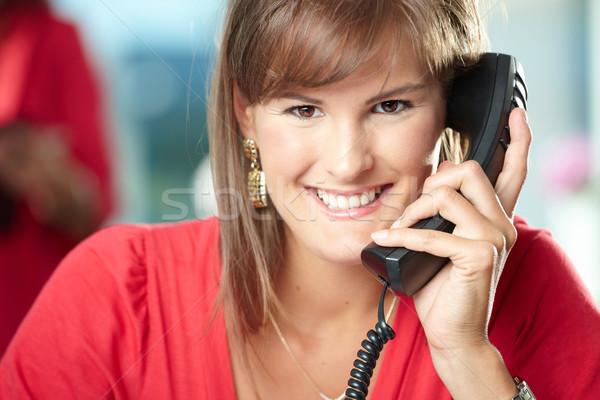 Stock photo: Businesswoman on phone