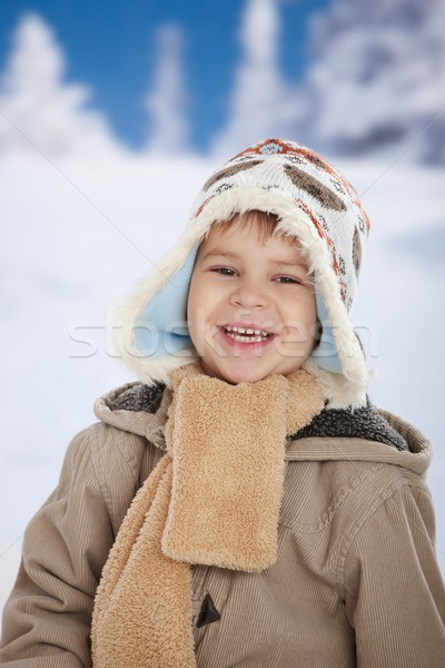 Gelukkig kid winter portret warm Stockfoto © nyul