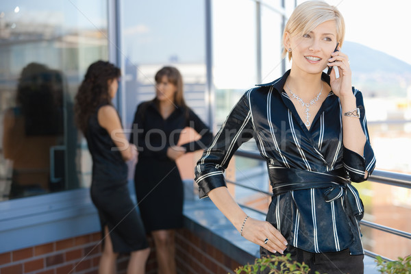 Businesswoman on mobile Stock photo © nyul