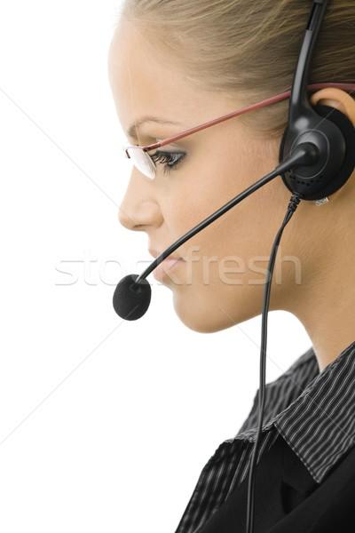 обслуживание клиентов представитель молодые оператор девушки Сток-фото © nyul