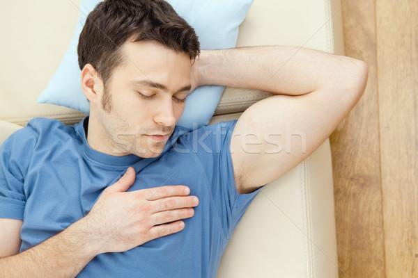 человека спальный диване молодые красивый мужчина домой Сток-фото © nyul