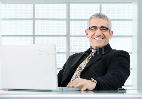 Businessman working on laptop Stock photo © nyul