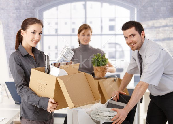 Young office workers moving office Stock photo © nyul