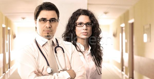 病院 肖像 2 小さな 医師 ストックフォト © nyul