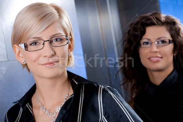 Stock fotó: Portré · üzletasszonyok · közelkép · vonzó · fiatal · áll