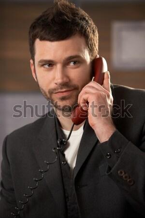 Stock photo: Portrait of confident businessman