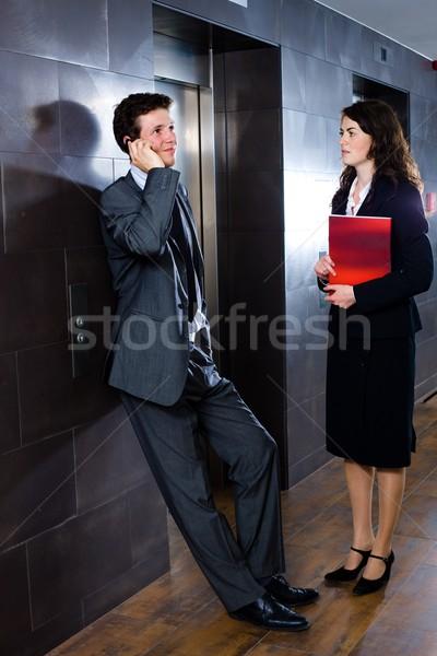 Lobby młodych czeka biuro biznesmen Zdjęcia stock © nyul
