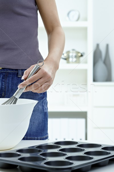 Whisking eggs Stock photo © nyul