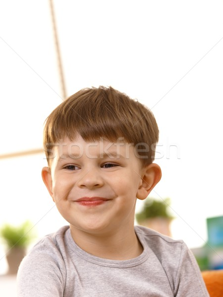 Closeup portrait of five year old kid Stock photo © nyul