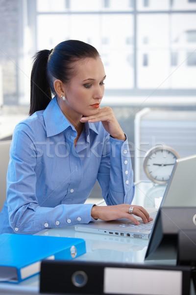 Businesswoman busy working Stock photo © nyul