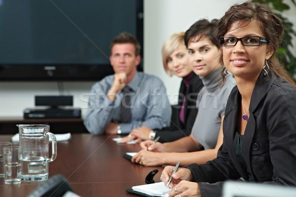 Foto stock: Personas · negocios · formación · gente · de · negocios · sesión