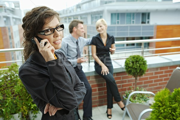 Stock photo: Businesswoman talking on phone