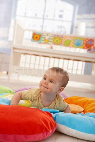 Happy infant on playmat Stock photo © nyul