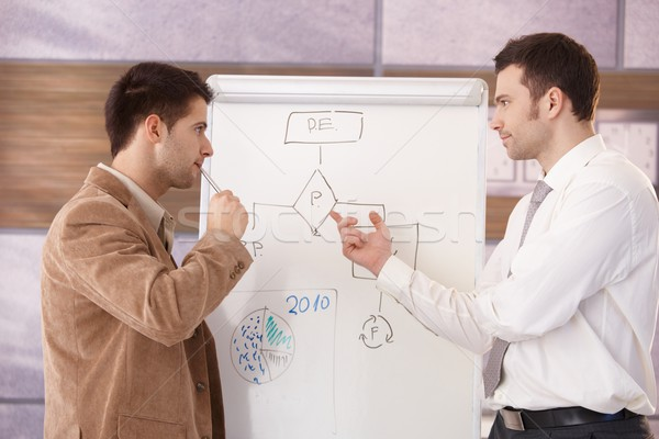 Young businessmen presenting together Stock photo © nyul