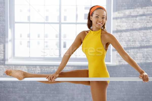 Portrait of attractive afro ballerina Stock photo © nyul