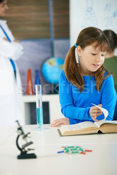 Science class at elementary school Stock photo © nyul