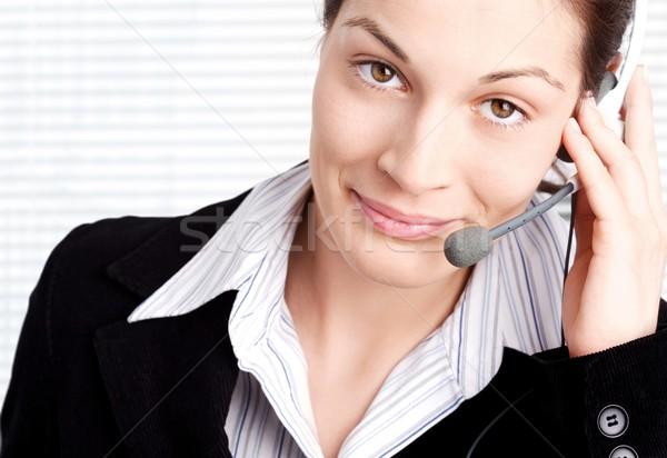 Operator with headset Stock photo © nyul