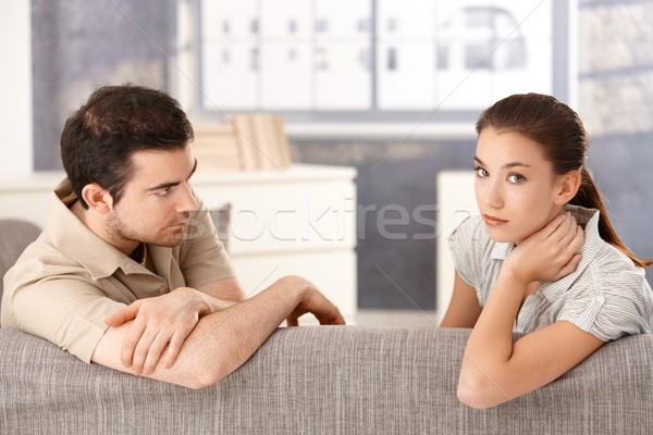 Young couple having relationship in crisis Stock photo © nyul