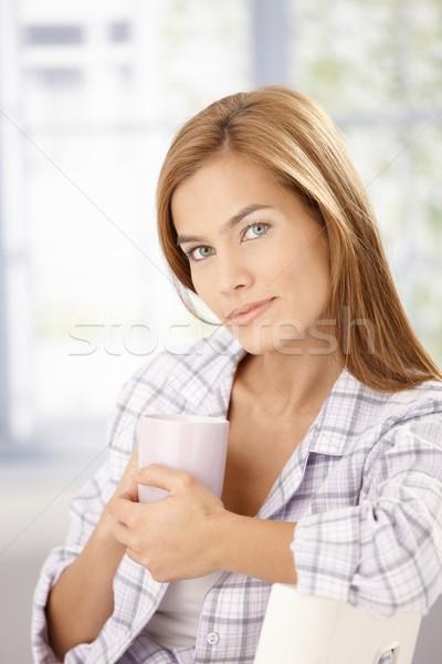 портрет молодые женщины утра Привлекательная женщина Сток-фото © nyul