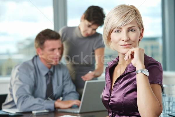 деловая женщина команда улыбаясь деловое совещание служба женщину Сток-фото © nyul
