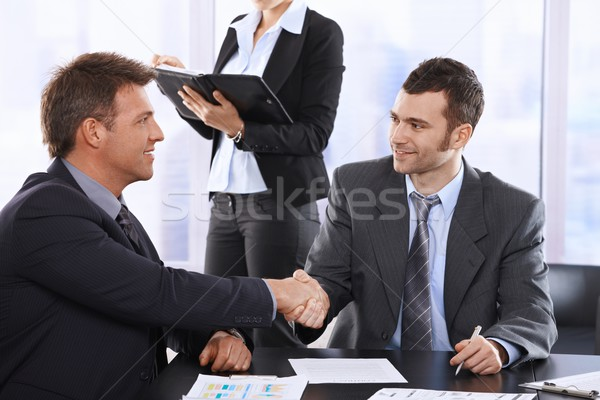 Businessmen shaking hands Stock photo © nyul